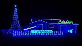 """Daft Punk"" by Pentatonix Christmas Light Show 2014"