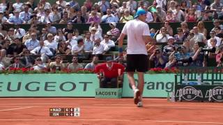 Nadal vs Isner - Roland Garros 2011 Round 1 Highlights