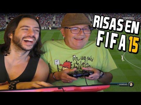 ¡¡JUGANDO AL FIFA 15 CON MI PADRE!! - Primera vez que usa un mando en su vida