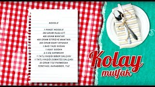 Etli Matarlı Noodle Tarifi - beIN GURME