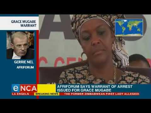 Afriforum says warrant of arrest issued for Grace Mugabe