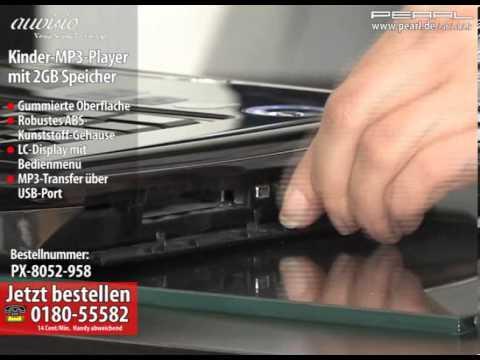 auvisio Kindergerechter MP3-Player mit 2GB Speicher