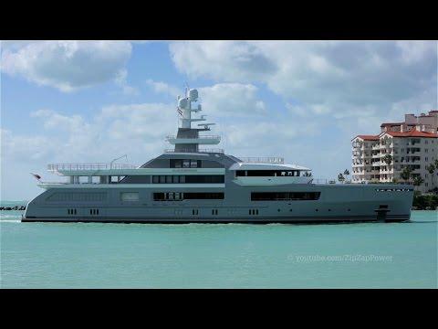 CLOUDBREAK Yacht arrives in Miami   Global Explorer Yacht