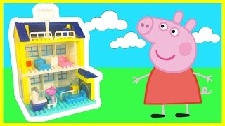PEPPA PIG Duplo Hospital Juguetes de Peppa de Construcción Building Blocks Construction Playset