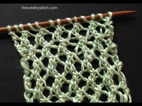 Easy Tea Cozy Knitting Pattern : Lacy Grille Stitch - YouTube