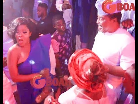 Toyin Abraham, Kunle Afod, Mide Martins, Bukola Adeeyo, Remi Surutu Turn the OBA Wedding to club