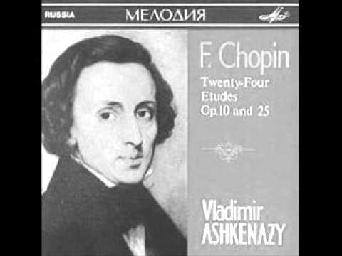 YOUNG ASHKENAZY plays CHOPIN 12 Etudes Op.25 (1959)