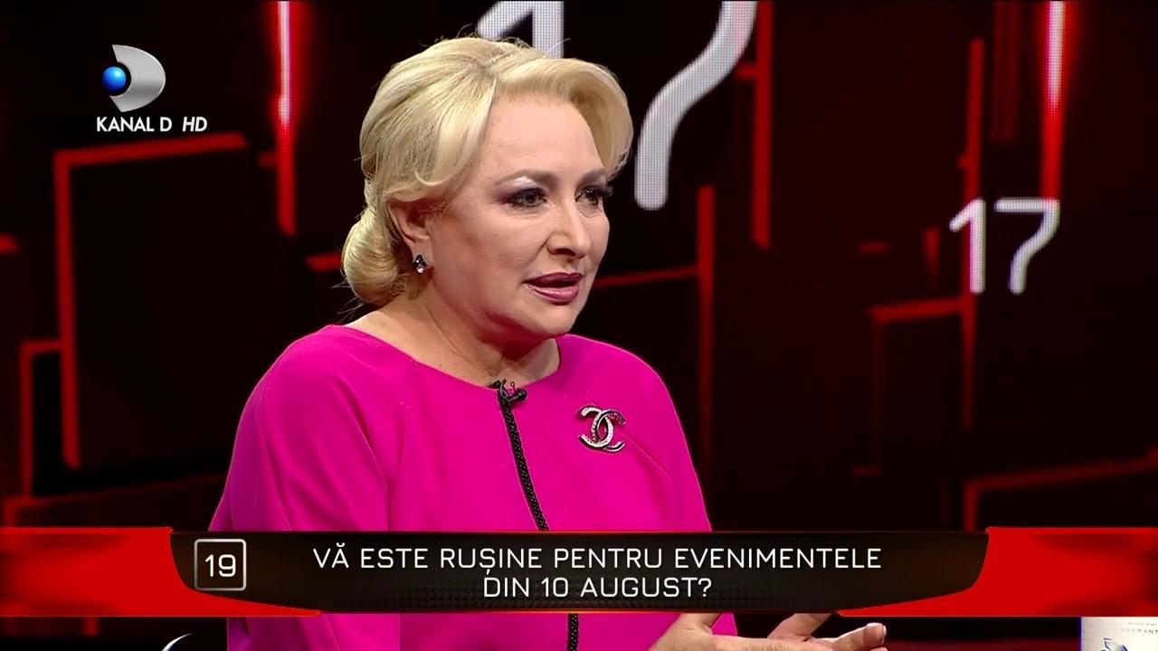 40 de intrebari cu Denise Rifai - Ii este rusine Vioricai Dancila pentru evenimentele din 10 august?