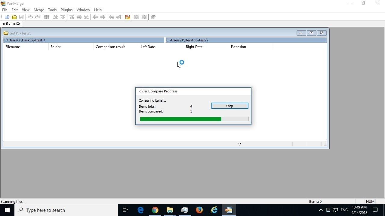 [WinMerge] Compare two folders in Windows using free WinMerge