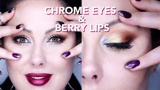 Chrome Eyes and Berry Lips & Style Guide | Makeup Geek