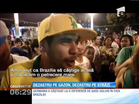 Brazilia - Germania 1 - 7! Dezastru pe gazon, dezastru pe străzi