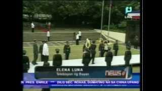 PNoy, nag-alay ng bulaklak sa bantayog ng mga bayani kasabay ng paggunita sa Martial Law