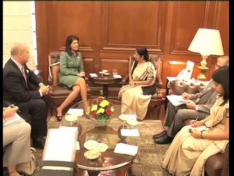 U.S. Republican Governor meets India's foreign minister