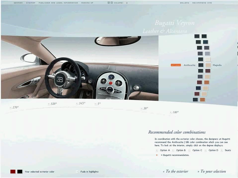bugatti veyron configurator - youtube
