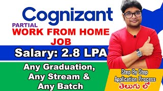 Cognizant Recruitment 2021   Cognizant Work from Home job in Telugu   Latest jobs 2021  V the Techee