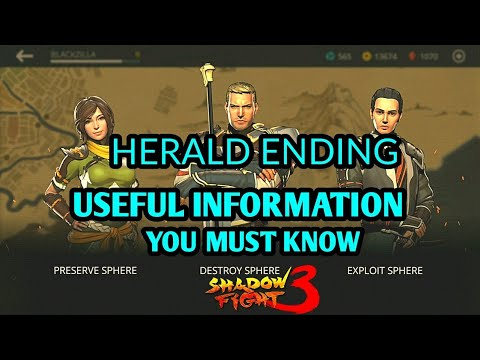 Shadow Fight 3 HERALD ENDING | USEFUL INFORMATION YOU MUST KNOW
