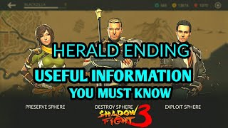 Shadow Fight 3 HERALD ENDING   USEFUL INFORMATION YOU MUST KNOW