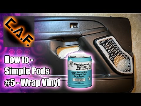 How to Make Simple Door Pods (Part 5) Wrap Vinyl