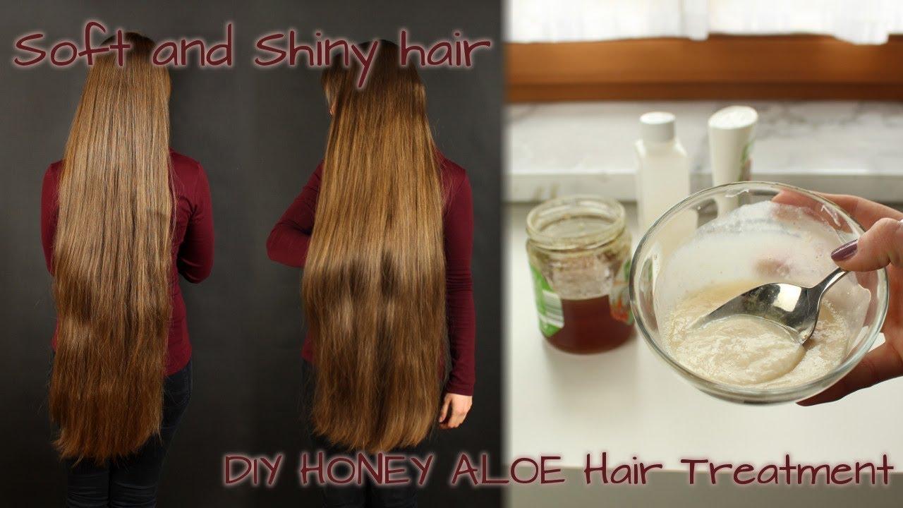 Super Soft And Shiny Hair With This Diy Honey And Aloe Vera Treatment Grow Long Hair Healthy