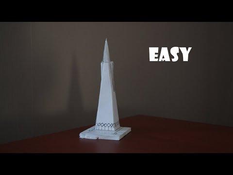Как сделать из бумаги макет школы из бумаги своими руками