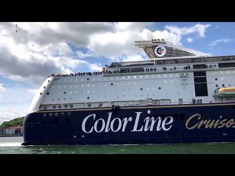 Auslaufen der ColorLine aus Kiel am 24.05.2017