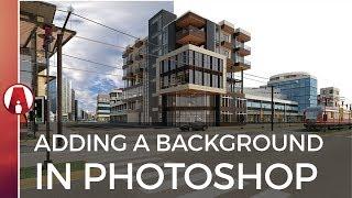 كيفية إضافة خلفية إلى جعل المعمارية في فوتوشوب