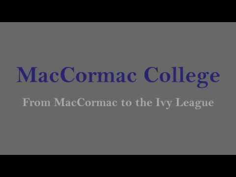 From MacCormac College to the Ivy League