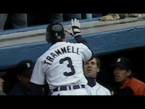 SEA@DET: Trammell's final home run of his MLB career
