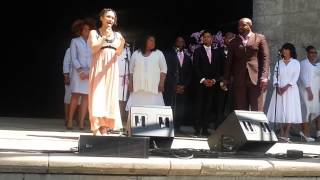 Sonim performing a beautiful gospel song with the Haven Choir.