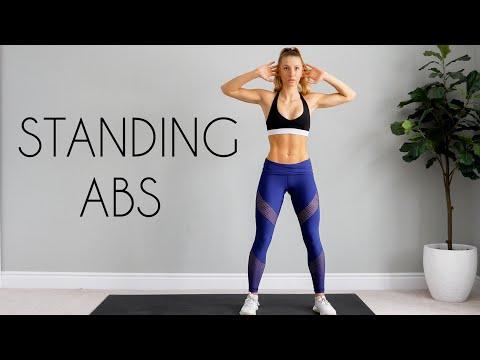 10 min STANDING ABS Workout (No Equipment)