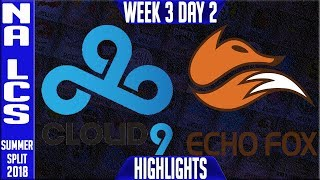 Video C9 vs FOX Highlights | NA LCS Summer 2018 Week 3 Day 2 | Cloud 9 vs Echo Fox download MP3, 3GP, MP4, WEBM, AVI, FLV Agustus 2018