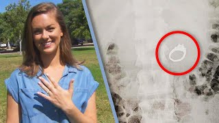 Woman Accidentally Swallows Engagement Ring in Her Sleep