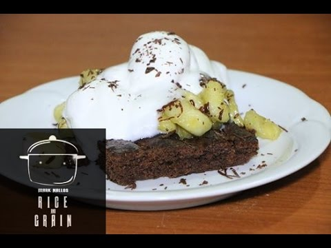 choco brownies banana split flambe' (Rice n Grain)