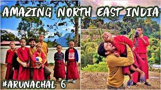 PLAYING FOOTBALL WITH MONKS IN MONASTARY, TUTING - Arunachal Pradesh