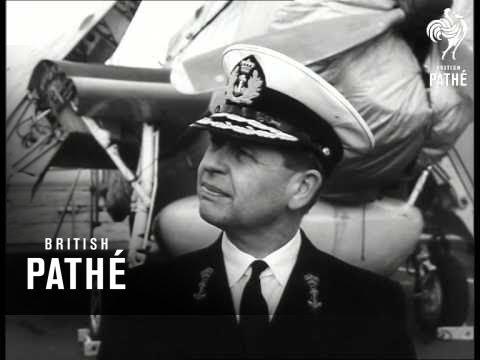 "Dutch Carrier ""Karel Doorman"" Leaves For Australia (1960)"