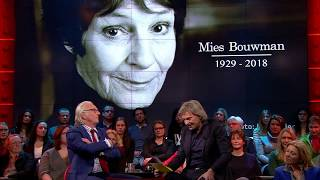Matthijs vertelt dat Mies Bouwman is overleden