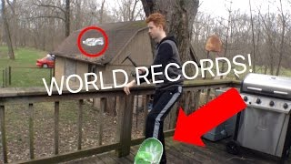 MAKING WATER BOTTLE FLIP WORLD RECORDS! (Can You Beat Them?)
