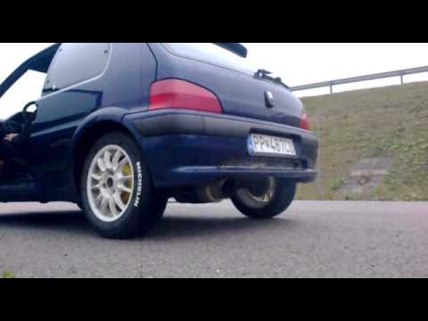 Peugeot 106 XS WM sport exhaust