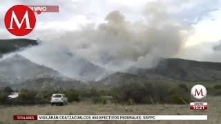 Incendio en sierra de Arteaga fuera de control por viento