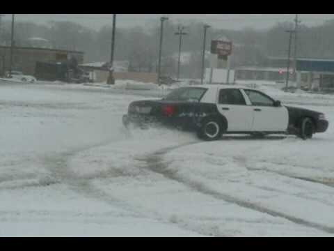 My  Ford Police Interceptor In The Snow
