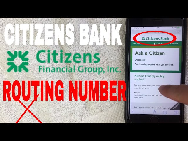 Citizens Bank Aba Routing Number Where Is It Youtube