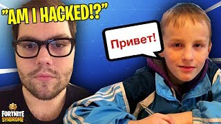 DAKOTAZ GETS HACKED IN VOICE CHAT BY POLISH KID!? (SEASON 5) - Fortnite Moments #136