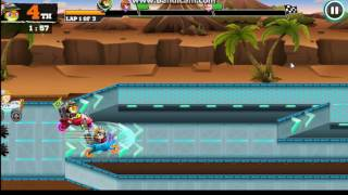 nick racing race with your favourite nickstars like spongebob, patrick, alvin, mikey and more!