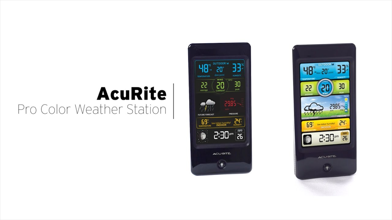 AcuRite Pro Color Weather Stations with Wind Speed