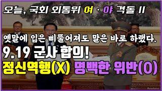 l국회 외통위 긴급회의 #2l 장관님, 9.19 군사합…