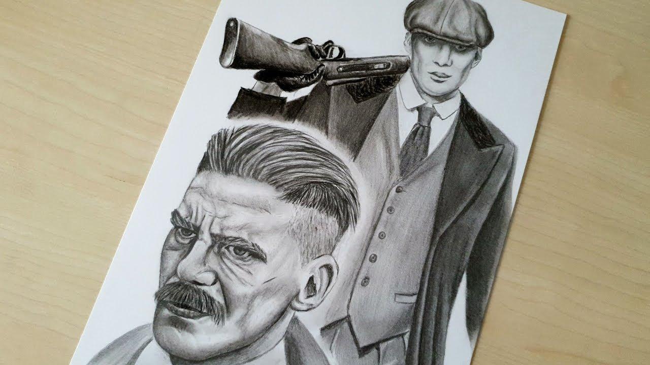 Pencil Arthur Shelby Drawing