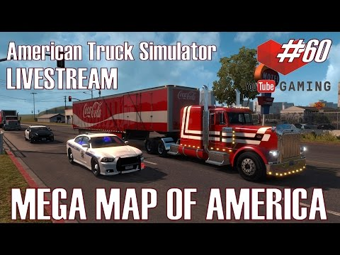 ATS I LIVESTREAM ★ MEGA MAP OF AMERICA ★ #60 US Truck Tour [Deutsch/HD]