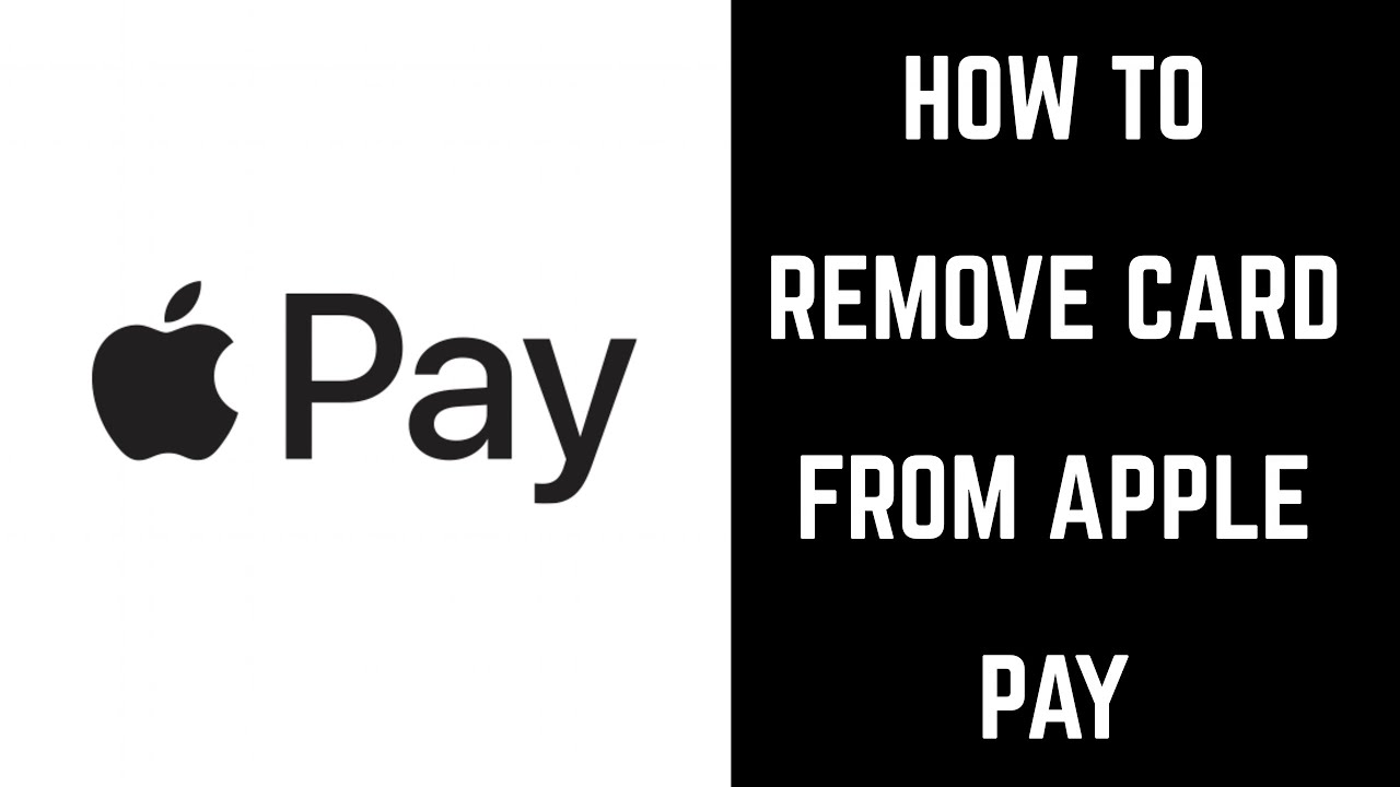 how to remove card from apple pay youtube