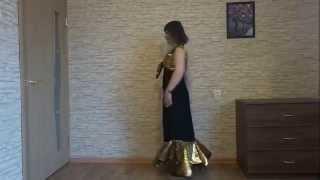 Нарядная длинная юбка с воланом.(Юбка вместе с декоративным болеро составляет вечерний наряд. Юбка на резинке. Очень просто кроится волан...., 2015-11-10T13:56:18.000Z)