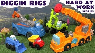 thomas the train play doh diggin rigs accident crash rescue lego surprise eggs toy story peppa